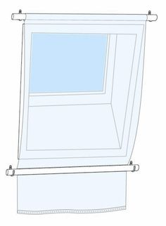 Ideas for covering a skylight. You could also use tension rods for the inner portion of the window.