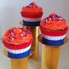 Oranje cupcakes voor Koninginnedag