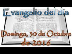 Evangelio del día (Domingo, 30 de Octubre de 2016) - YouTube