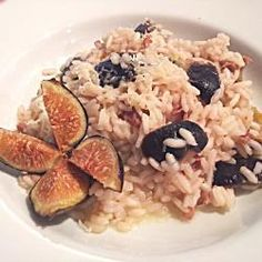 Creamy risotto with fresh figs and prosciutto @ http://allrecipes.co.uk