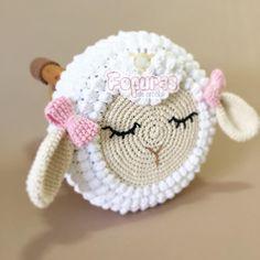 Knitting Cushion Making For Child Room – Knitting And We Bobble Crochet, Crochet Mask, Crochet Beanie Pattern, Crochet Cross, Crochet Bear, Crochet Home, Crochet For Kids, Stool Cover Crochet, Craft Ideas