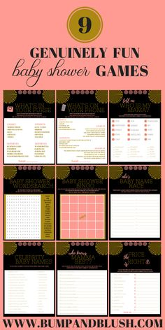 baby shower games printables #BabyGames