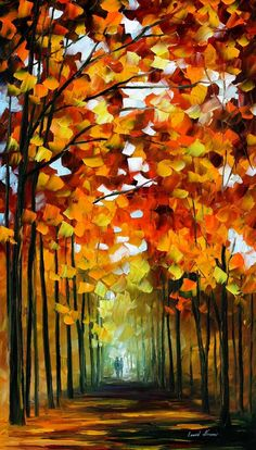 BEFORE THE LEAFS FALL - PALETTE KNIFE Oil Painting On Canvas By Leonid Afremov http://afremov.com/BEFORE-THE-LEAFS-FALL-PALETTE-KNIFE-Oil-Painting-On-Canvas-By-Leonid-Afremov-Size-36-x20.html?bid=1&partner=20921&utm_medium=/vpin&utm_campaign=v-ADD-YOUR&utm_source=s-vpin