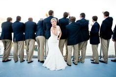 Jody and Michelle threw a maritime-themed wedding, at the picturesque Corinthian Yacht Club in Tiburon. Read more at: http://www.7x7.com/wedding-resource/nautical-nuptials-gorgeous-tiburon