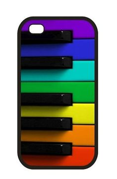 Rainbow colored piano Custom iPhone Case (Fit for 4S and 4).