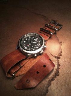 Nato strap leather