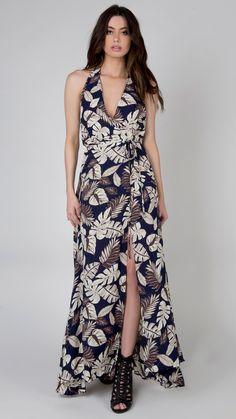 Aloha Halter Wrap Dress