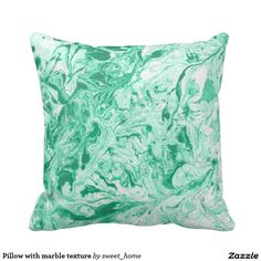 Pillow with marble texture
