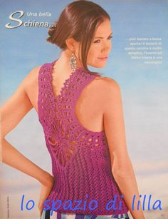 lo spazio di lilla: Una meraviglia di top, lavorato a maglia e all'uncinetto con schema