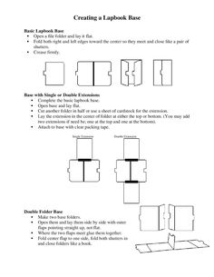How to fold a lapbook~ This site also has templates for purchase to make lapbooks on varying subjects.