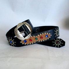 Classic Studded and Jeweled Western Rockabilly Belt de CanyoneroBelts en Etsy