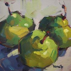 "Daily Paintworks - ""Dancing Pears"" by Cathleen Rehfeld"