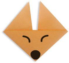 origami facile pour r aliser une t te de renard en pliage de papier pour l 39 cole origami. Black Bedroom Furniture Sets. Home Design Ideas