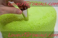 трава из мастики-fondant grass tutorial - Мастер-классы по украшению тортов Cake Decorating Tutorials (How To's) Tortas Paso a Paso