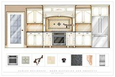 kitchen design - elevation view