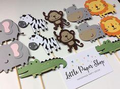 Handmade Cupcake Toppers  Jungle Safari Theme x 12