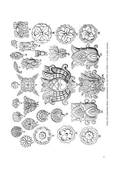 Magyar ornament, Hungarian  ornament, floral ornament