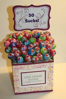 50 Sucks Sucker Holder Stampin Up Rubber Stamping Handmade Gifts Birthday