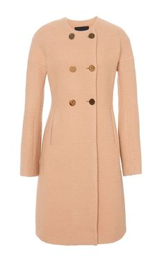 Boucle Double Breasted Coat by Derek Lam for Preorder on Moda Operandi