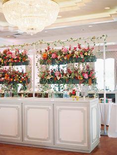 floral cocktail hour + bar | Landon Jacob