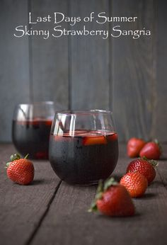 My Skinny Strawberry Sangria recipe! Great for the last days of summer! #client