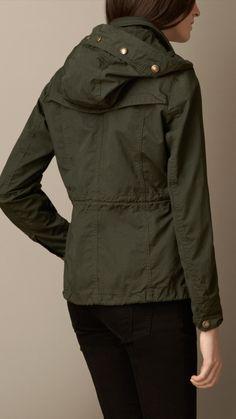 Press-Stud Detail Parka Jacket   Burberry