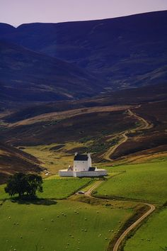 Corgarff Castle, Scotland and its grounds