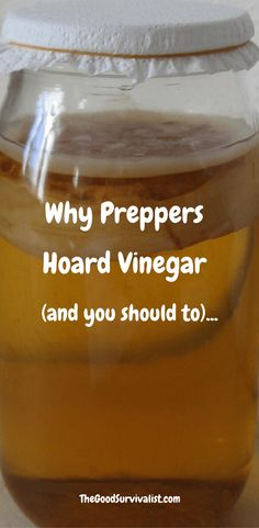 Miraculous vinegar and why PREPPERS HOARD IT