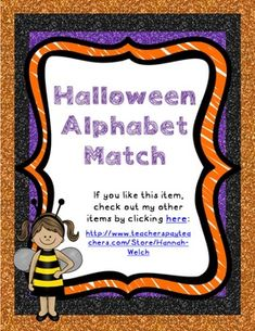 Halloween Alphabet and Beginning Sound Match