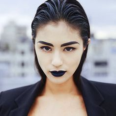 @lydia_pang_ pulls off the gothic lip like no other!