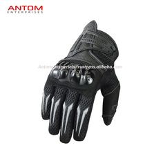 Halvarssons Supreme Moto Motorcycle Motorbike Leather Gloves Black