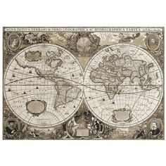 Arthouse Historical World Map Canvas Wall Art ($37) ❤ liked on Polyvore featuring home, home decor, wall art, canvas picture, canvas wall art, stretched canvas, map home decor and canvas home decor