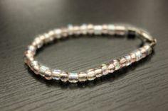Baby Beaded Bracelet Pink Mini Beads