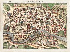 Ancient Rome Roma Roman Italy Italian City Map  by DigitaIDecades, $3.00