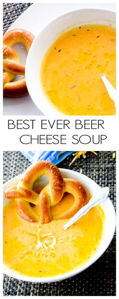 Best Ever Beer Cheese Soup - Recipe Diaries Game Day Food recipes #soup