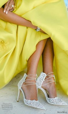 bella belle spring 2021 bridal shoes lime yellow gown ankle straps pointy toe high heel shoes (6) zv -- Bella Belle Spring 2021 Bridal Shoes | Wedding Inspirasi #wedding #weddings #bridal #weddingideas #collection:Metamorphosis #label:BellaBelle #season:Spring/Summer #week:112021 #year:2021 ~ High Heels, Shoes Heels, Pumps, Yellow Gown, Bridal Heels, Ankle Straps, Peep Toe, Spring Summer, Gowns
