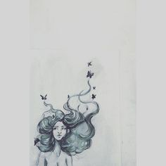 Free minds #freeminds #free #woman #art #butterfly #artist #arte #artsy #doodle #cute #love #drawing #paint #painting #hair #illustration #artoftheday #artofinstagram #color