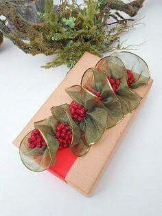Beautiful Wrapping with Ribbon and Berries