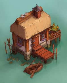 ArtStation - Fishing House, Johanna Marsch