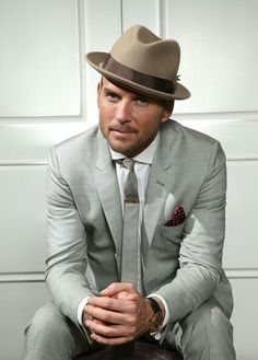 Matt Goss Promo Photo 2013 by Matt Goss Music - Photo 55315378 / Matt Goss, Pork Pie Hat, Vegas Style, Music Photo, Classic Man, Mens Suits, Grey Suits, Suit And Tie, Beautiful Boys