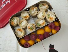 Sushi Sandwiches.   Use home made shredded chicken instead of canned tuna.