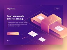Isometric Spamail Concept 1 by Walid Beno - Dribbble