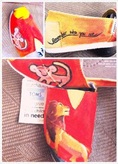 TOMS SHOES Custom lion king toms Disney toms by sashian on Etsy, $25.00