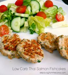 Low Carb Thai Salmon Fishcakes - super tasty recipe!