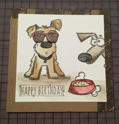 Tim Holtz Crazy Dog card