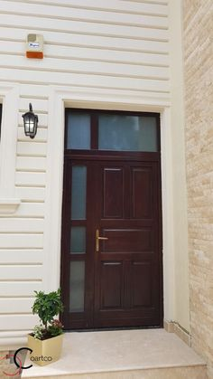 Proiect Casa Rezidentiala Arges – Profile Decorative Exterior Wall Design, Plaster Walls, Design Case, Garage Doors, House Design, Windows, Interior, Outdoor Decor, Color