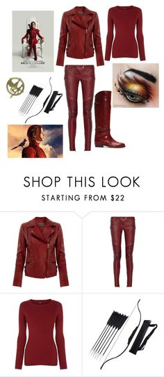"""""""Hunger games:Mocking jay"""" by nickeyg ❤ liked on Polyvore featuring MuuBaa, Balmain, Warehouse and Frye"""