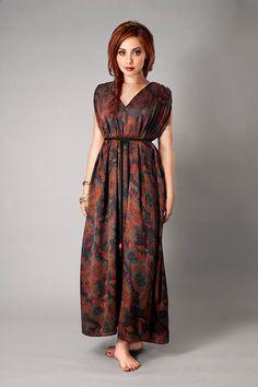 Kali Silk Holiday Grecian Boho Maxi Dress by kaliclothing on Etsy, $210.00