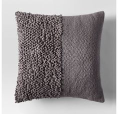 If your space is starting to look a little too pattern-happy, throw in a neutral pillow with cool texture l. Handmade Pillows, Diy Pillows, Throw Pillows, Punch Needle Kits, Punch Needle Patterns, Neutral Pillows, Diy Cushion, Cushion Covers, Pillow Texture