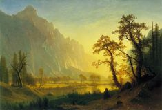 Sunrise Yosemite Valley by Albert Bierstadt